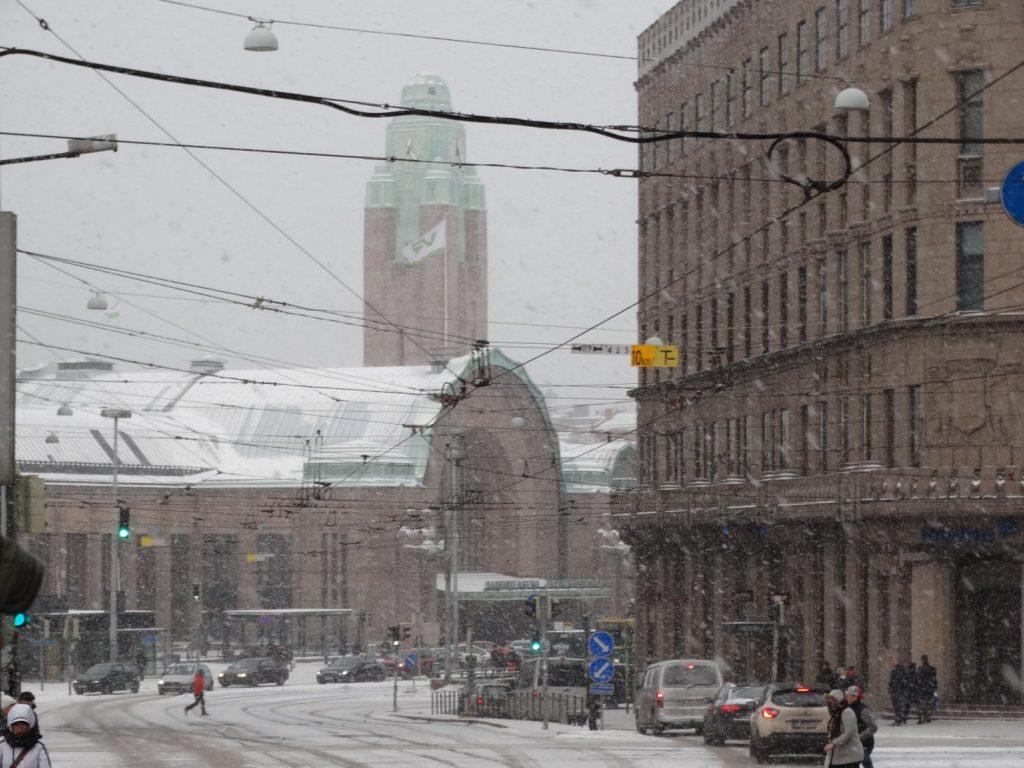 Хельсинки. Снегопад