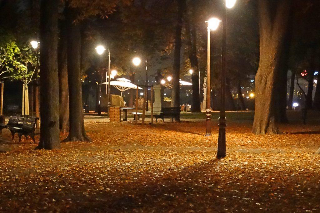 Белград. Ночной парк