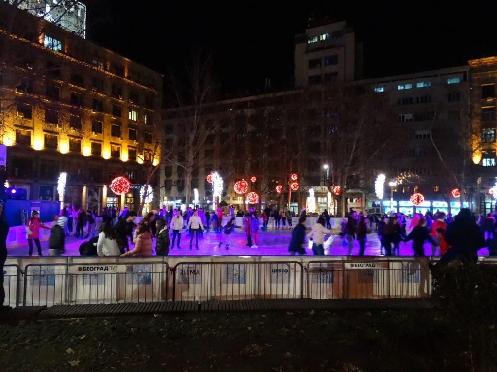 каток на площади Николы Пашича