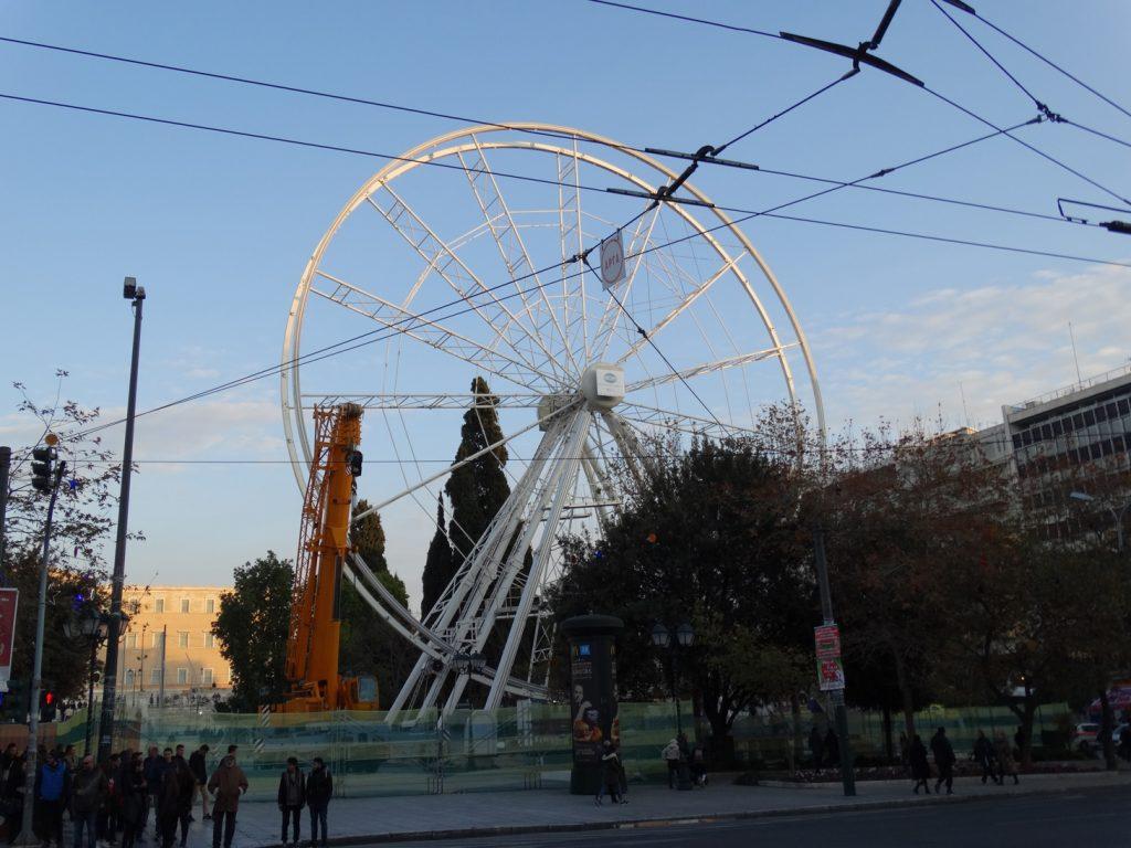 Колесо обозрения на площади Синтагма