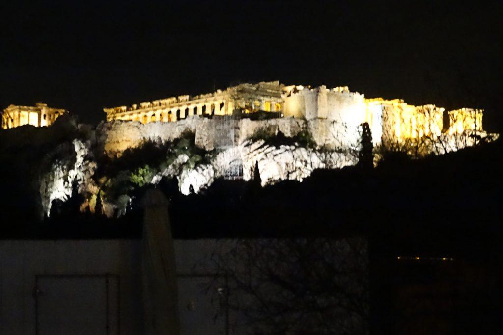 Акрополь в новогоднюю ночь