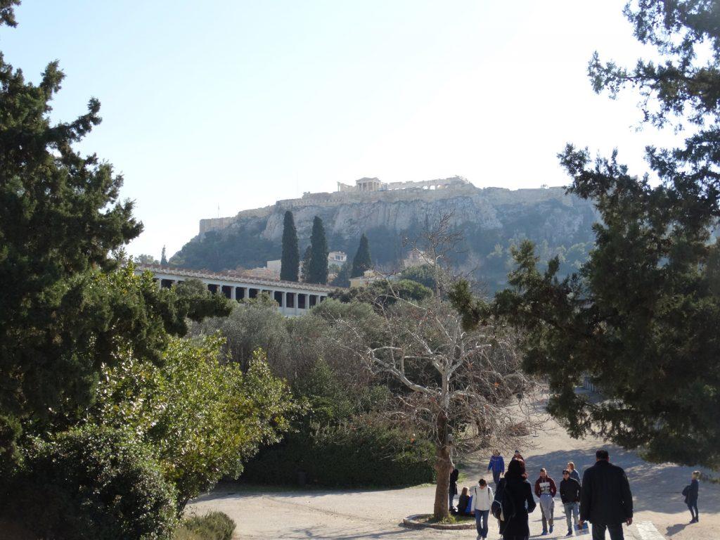 Вид на Агору и Акрополь