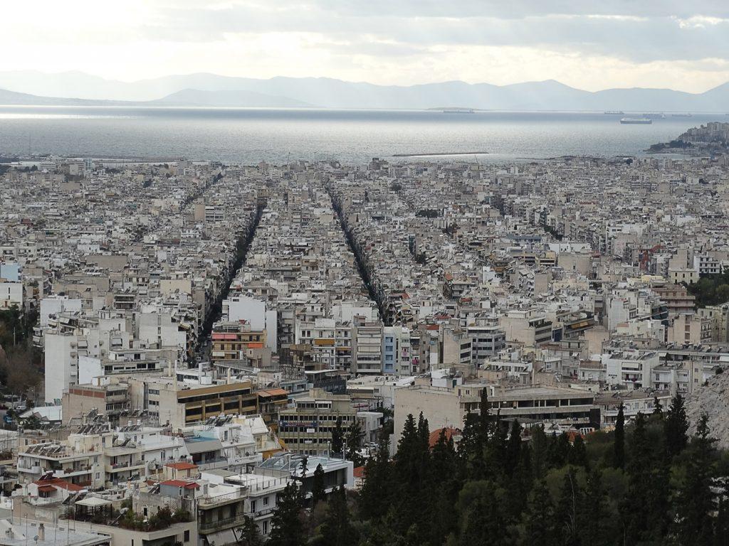 Филопаппу. Вид на Сароникос